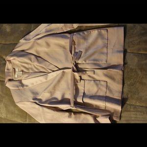 Silky blush blazer or jacket